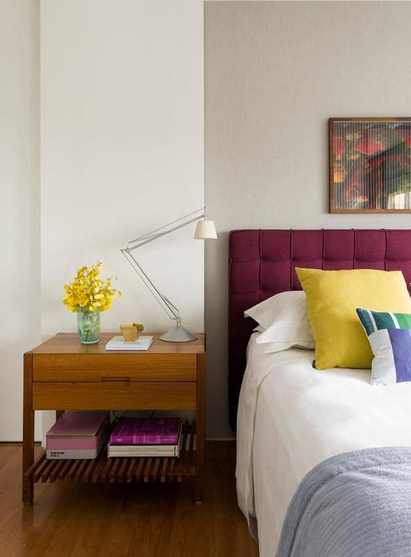 Camera cu accente de culoare: