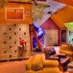 Camera de joaca pentru copii la mansarda