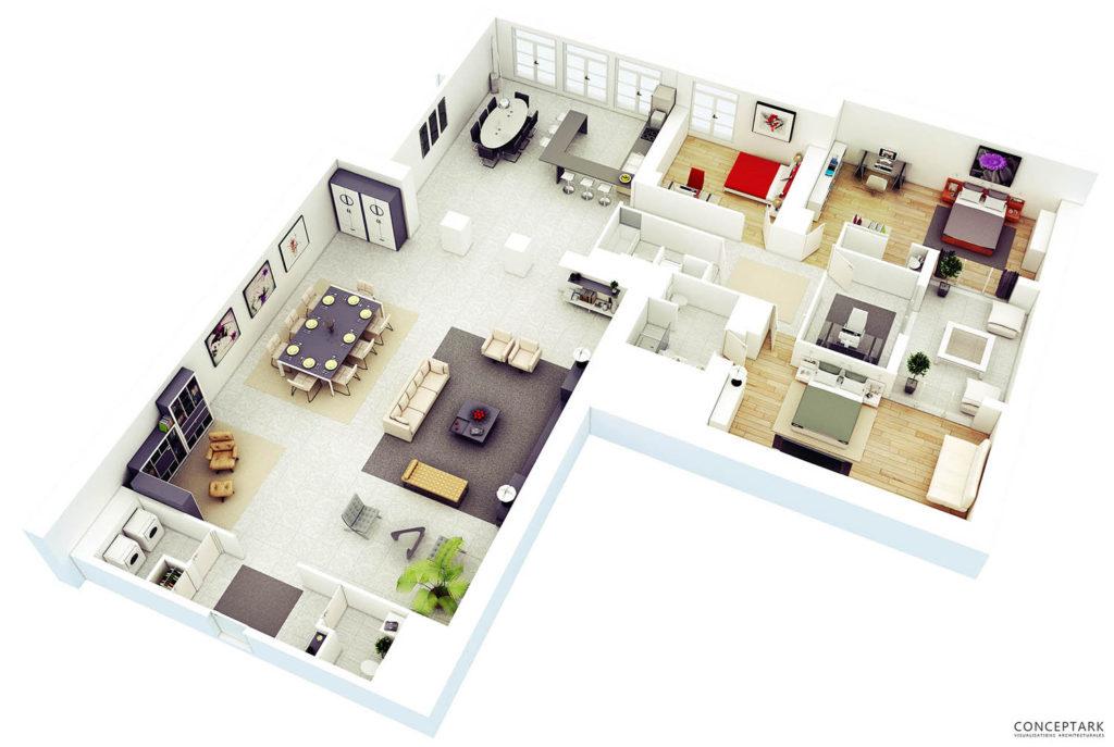 Plan de casa in 3D 11