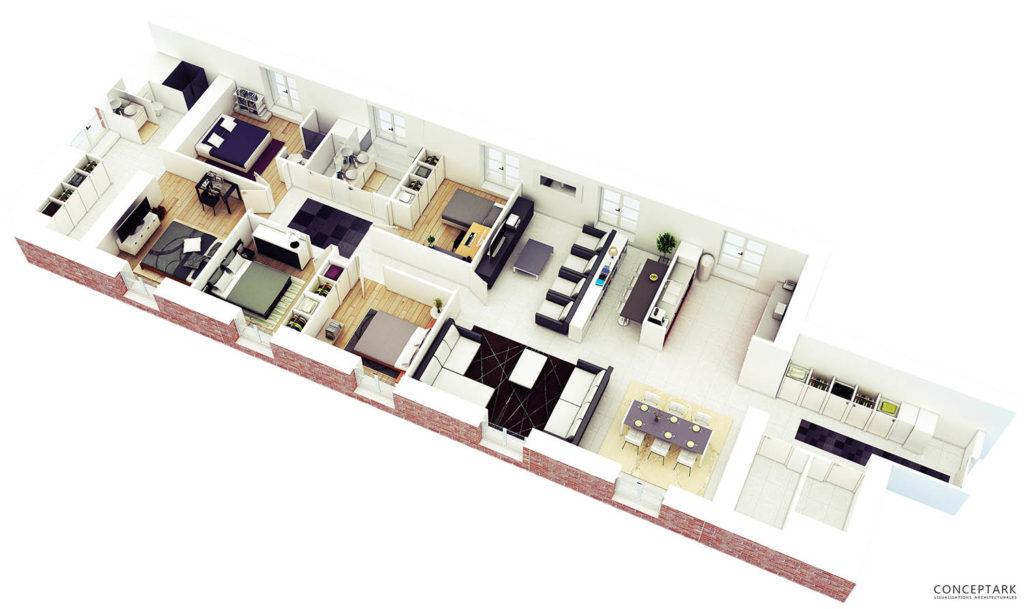 Plan de casa in 3D 12