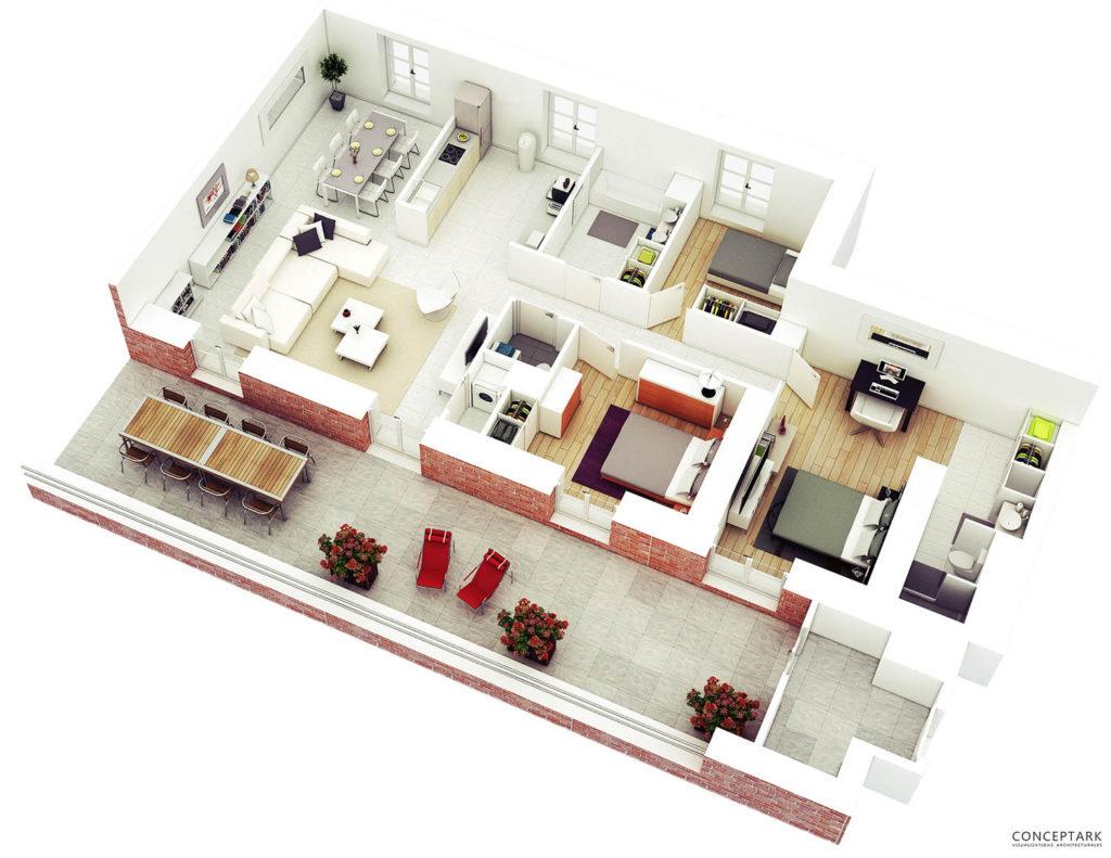 Plan de casa in 3D 15