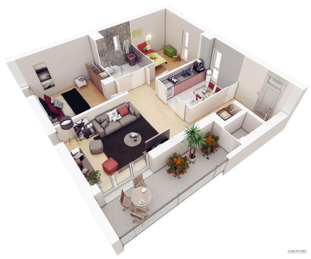 Plan de casa in 3D 16