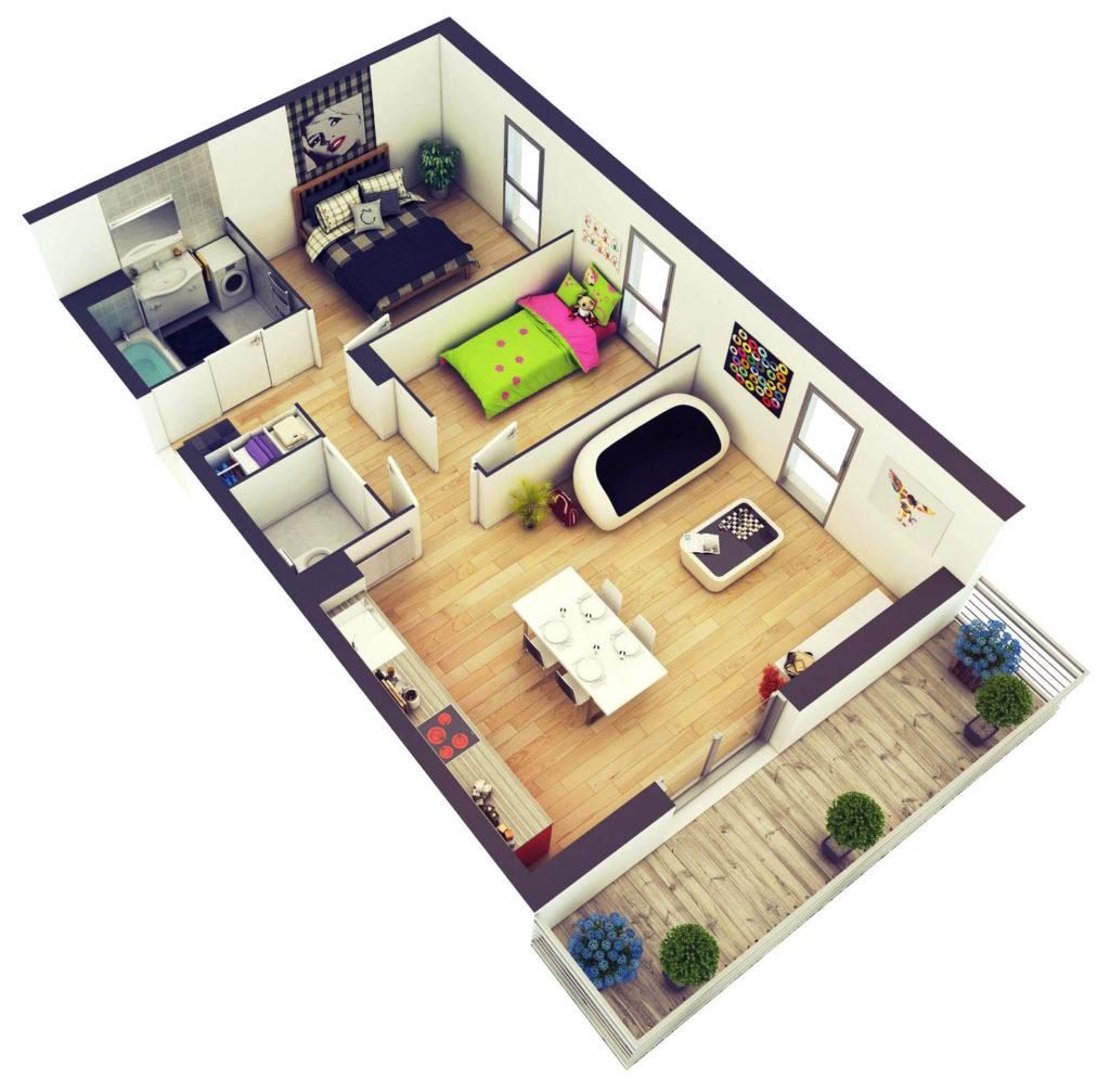 Plan de casa in 3D 2