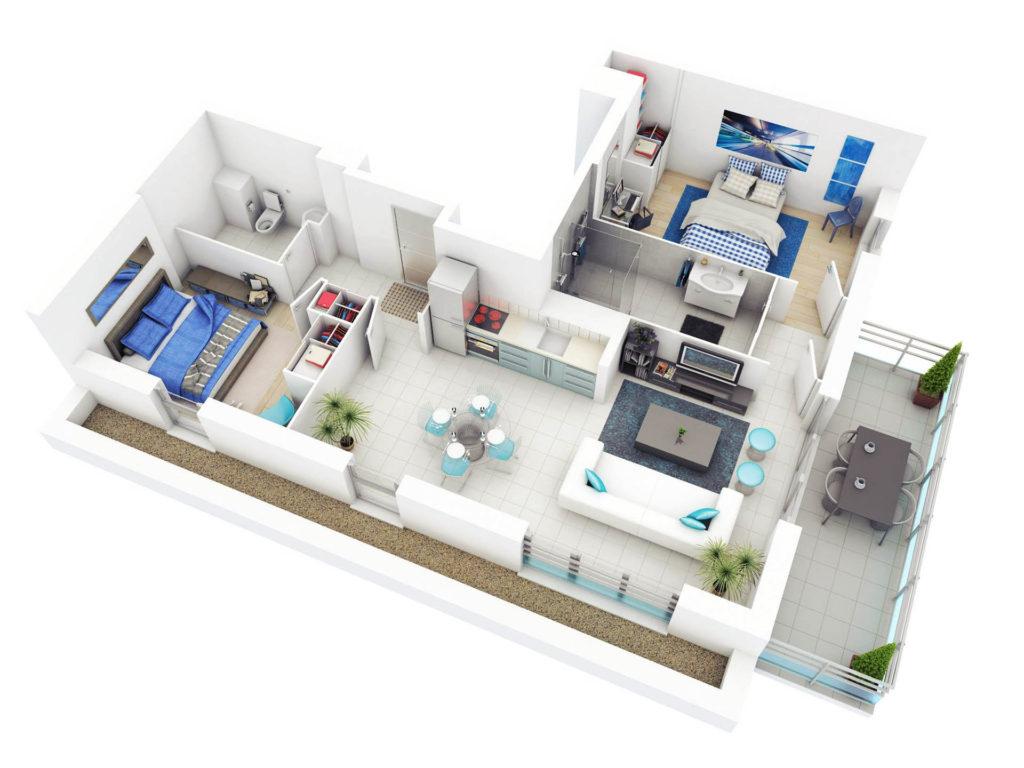 Plan de casa in 3D 3