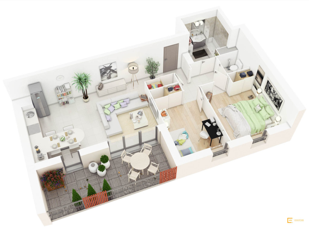 Plan De Casa In 3d Idei Design Interior