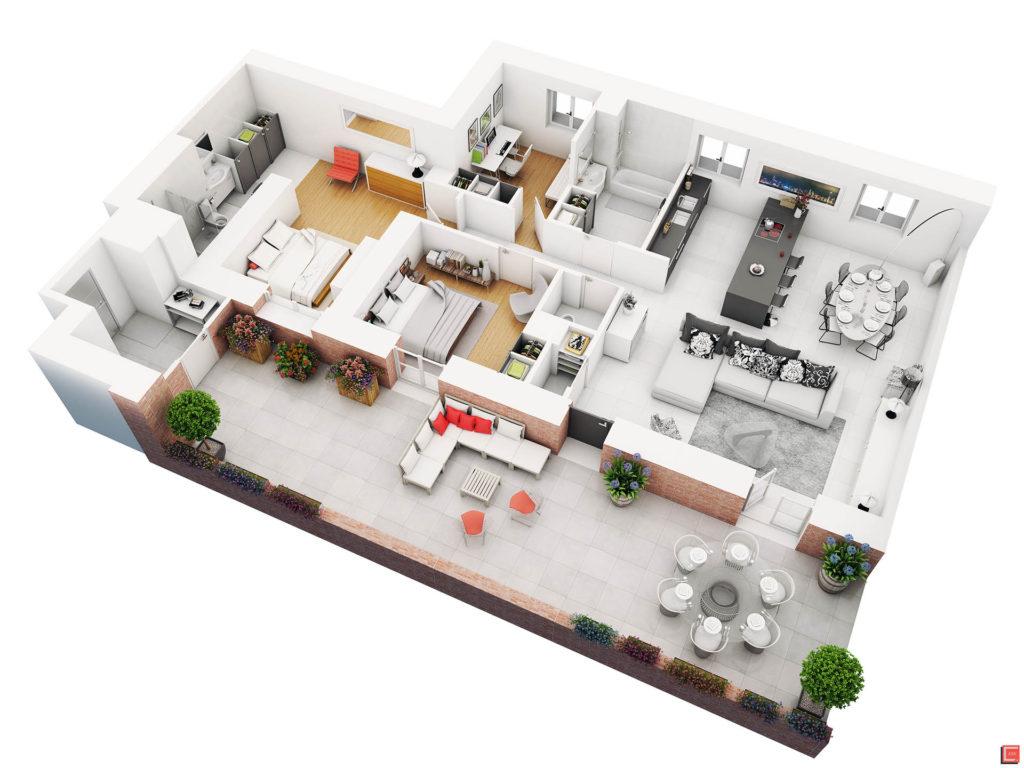 Plan de casa in 3D 7