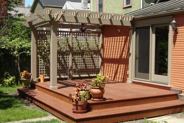 Cum amenajam o terasa mica din spatele casei idei for Modele case cu terase acoperite