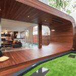 Terasa moderna cu acoperis integrat