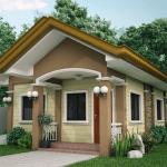 Casa mica cu intrare cu coloane