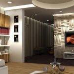 Perete decorativ tv cu benzi led