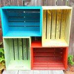Lazi colorate din lemn pentru gradina