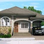 Casa gri cu loc de parcare acoperit