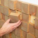 Montare placi din lemn sectionat