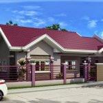 Casa cu parter cu acoperis violet