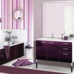 Baie cu mobilier violet