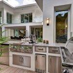 Bucatarie in aer liber pentru casa moderna