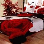 Lenjerie de pat de Valentine's cu tradafiri