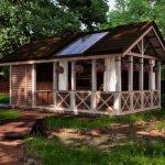 Cabana cu veranda si luminator