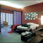 Dormitor cu usi rotative din sticla mata