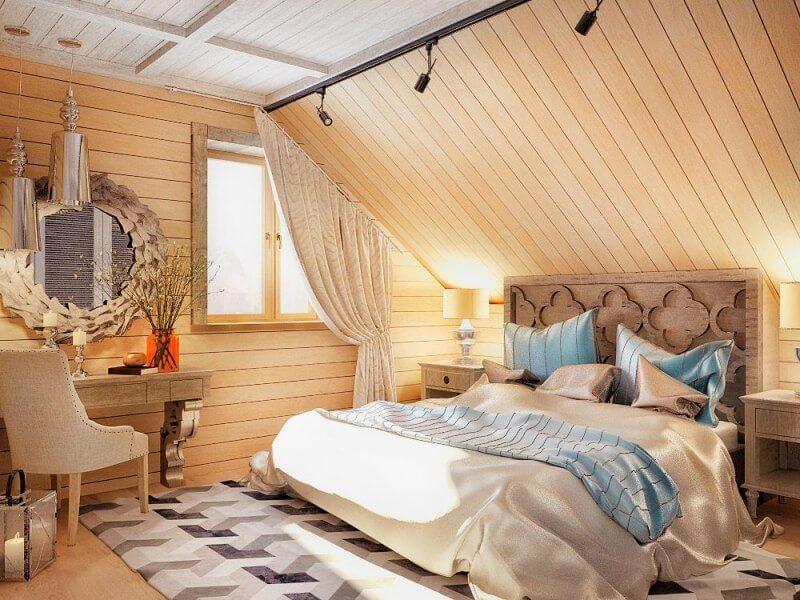 15 idei de dormitor la mansardă, care vă va lumina ziua