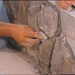 Placare gard din zidarie cu piatra decorativa