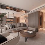 Living tip loft cu doua masute decorative