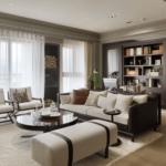 Living mare cu profile decorative pentru pereti