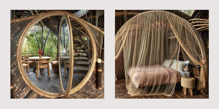 Casa amenajata cu arcade din bambus