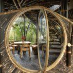 Vila cu structura din lemn de bambus