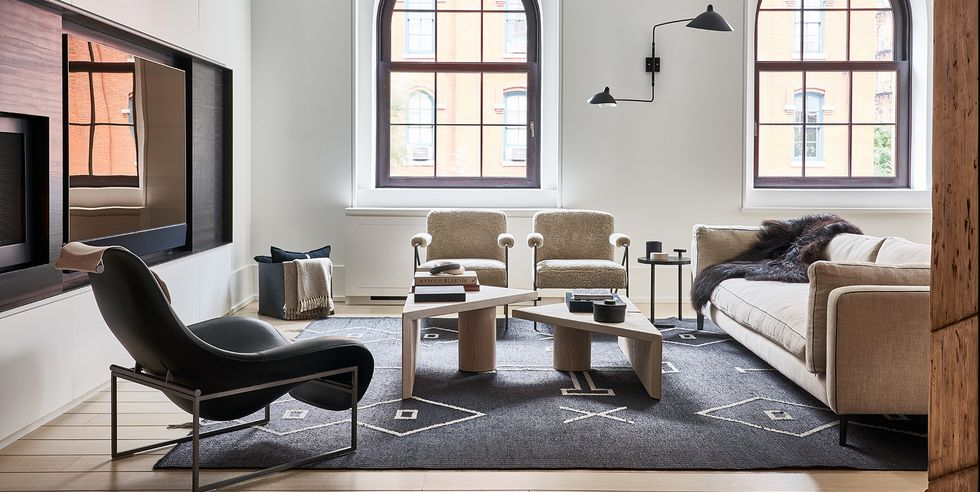 Living mare cu mobilier modern