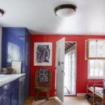 Bucatarie rustica in culori vii