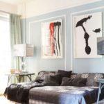 Living bleu cu canapea extensibila