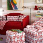 Camera pentru copii alb cu rosu