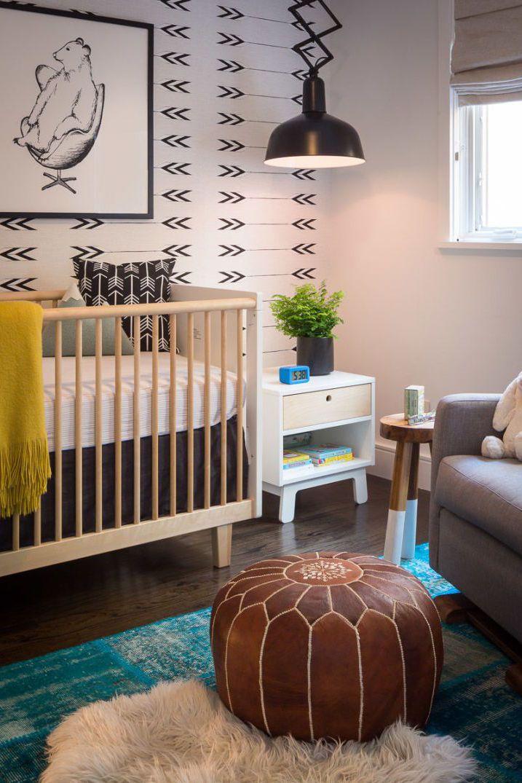 Accesorii camera alb negru bebelus